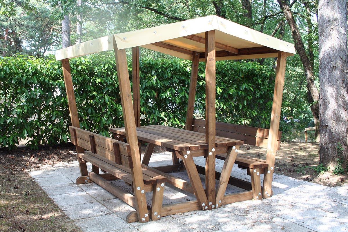 Table gratillon couverte